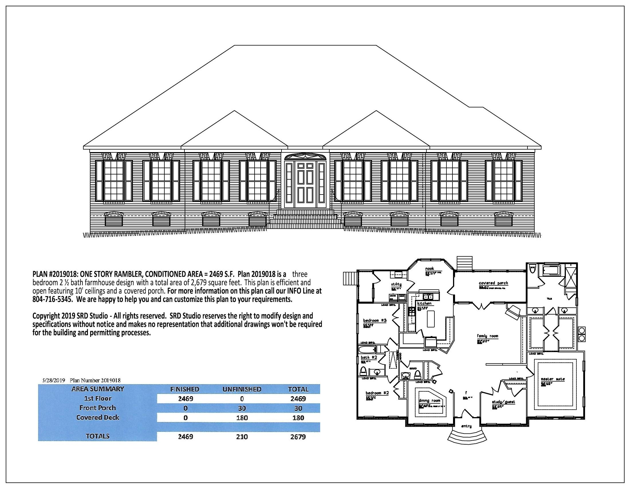 HOUSE PLAN NUMBER 2019018 on